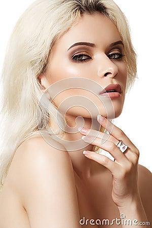 Accessories, cosmetics & make-up. Beautiful model