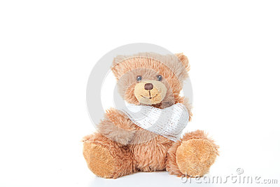 Accident concept teddy