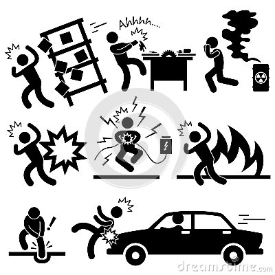 Accident Explosion Danger Risk Pictogram
