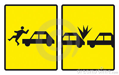 Accident road signs