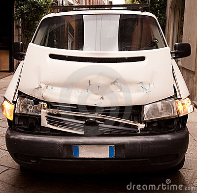 Accidented van