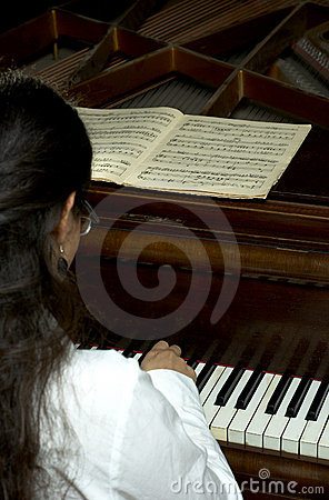 Accomplished Pianist at the Piano