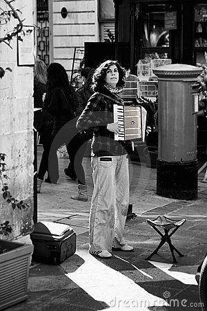 The Accordion Player Editorial Photo