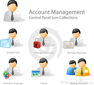 Free Account Management Icons Royalty Free Stock Photo - 3681755