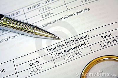 Account Statement Royalty Free Stock Photography - Image: 10698967