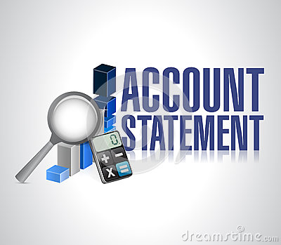 Account statement business background