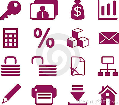 Accountant internet icons