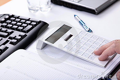 Accountant in work