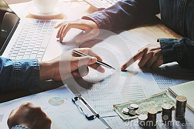 accountant working Stock Photo