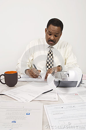 Accountant Working At Office