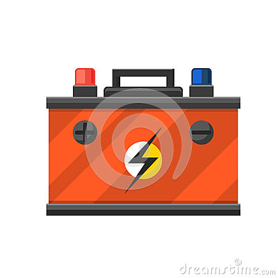 Accumulator battery energy power and electricity. Vector Illustration