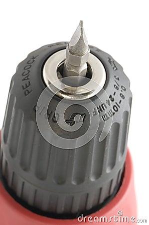 Accumulator screwdriver on white