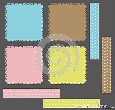 Accumulazione dei telai del merletto di disegno