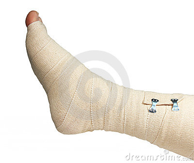 Ace bandage right foot