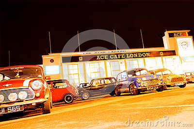 Ace Cafe Minis Editorial Stock Photo