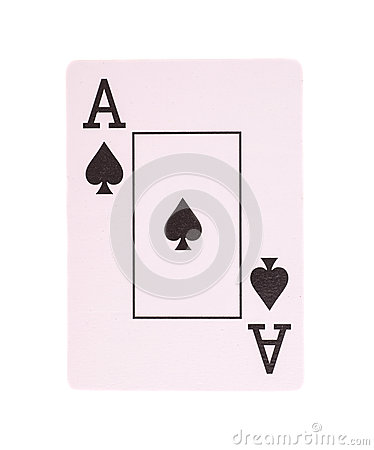 Free Ace Poker Card Of Spades Isolated Stock Images - 51222344