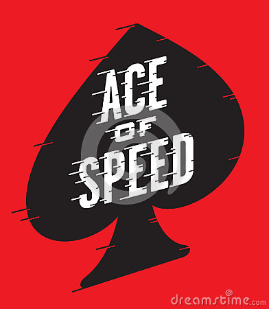 Ace of Speed Retro Vector Design Vector Illustration