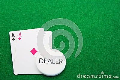 Aces пары торговца зеленые
