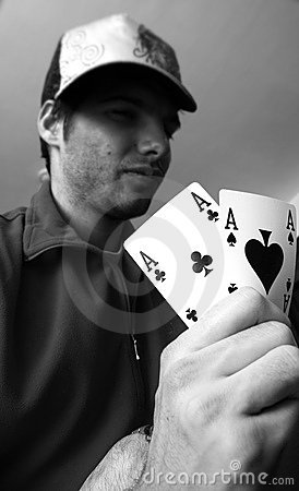Aces pair - poker concept