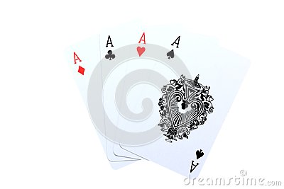 4 Aces poker cards
