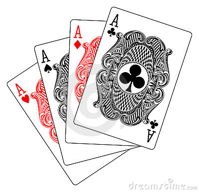 Aces poker heart spade diamond club
