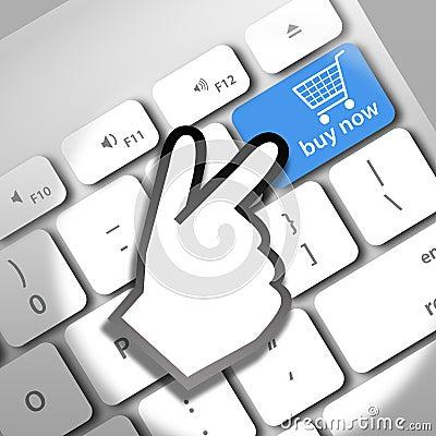 Acheter maintenant en ligne photographie stock libre de for Acheter arbustes en ligne