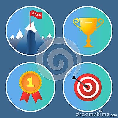 Achievement icons set