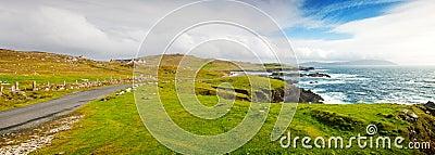 Achill Island Seascape.Panorama.