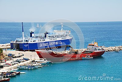 Achilleas ferry, Alonissos Editorial Stock Photo