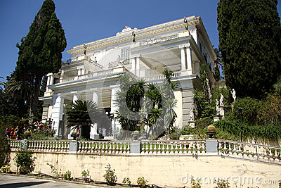 Achilleion Palace (Corfu, Greece) Editorial Stock Image