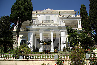 Achilleion Palace (Corfu, Greece) Editorial Stock Photo