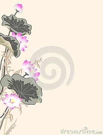 Achtergrond met lotusbloem