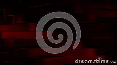 Achtergrond met rode roterende horizontale blokken stock footage