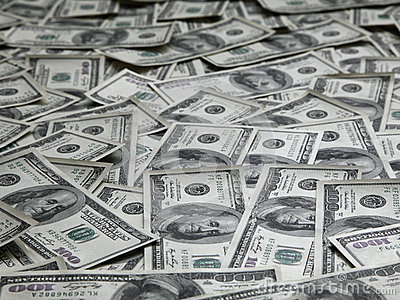 Achtergrond met veel Amerikaanse honderd dollarsrekeningen