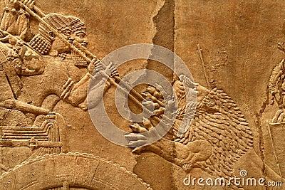 acient assyrian art 6 stock photos image 8538183