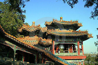 Acient Chinese Pavilion in summer palace Editorial Image
