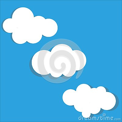 Cloud vector icon set Vector Illustration