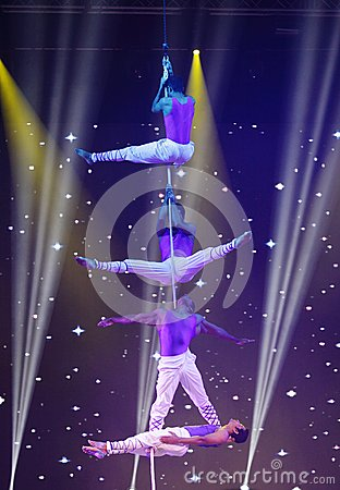 Free Acobatic Stunt By Mystic India In Bahrain Royalty Free Stock Photo - 33595415