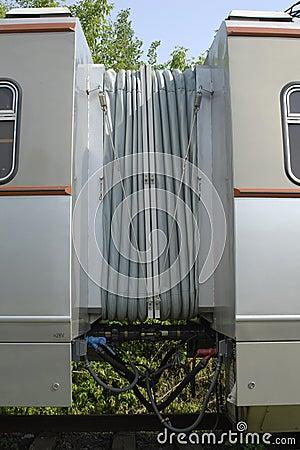 Acoplamento de dois ônibus