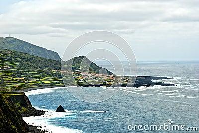 Acores; flores island, panorama of faja grande