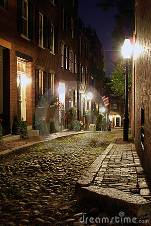 Acorn at night