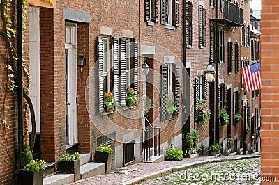 Acorn Street in Boston Beacon Hill