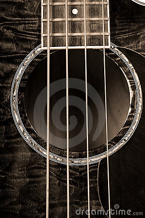 Free Acoustic Bass Guitar Royalty Free Stock Photography - 12334847