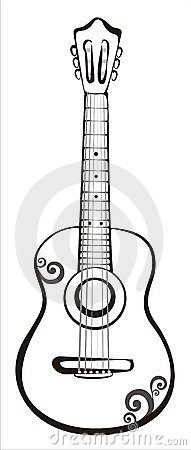 Acoustic Classic Guitar Sketch Royalty Free Stock Photography - Image 17712637