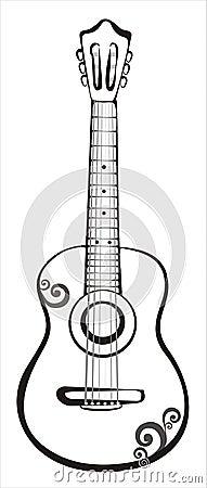 Acoustic classic guitar sketch
