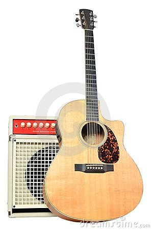 Acoustic Guitar and Acoustic Instrument Amplifier