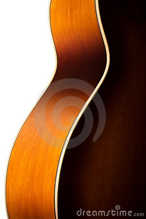 Free Acoustic Guitar Body Detail Royalty Free Stock Photos - 13159638