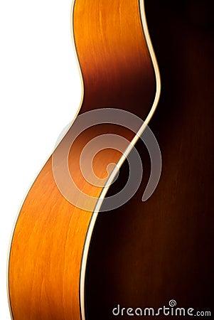 Acoustic guitar body detail