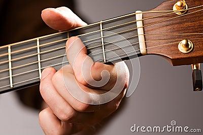 Acoustic guitar chord