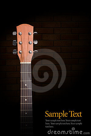 Free Acoustic Guitar Neck Royalty Free Stock Images - 8254359